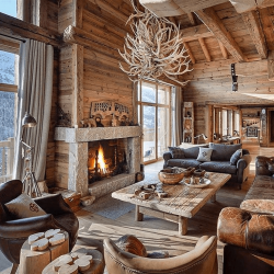 Chalets-lodges-ski-cabin-decor-large-window